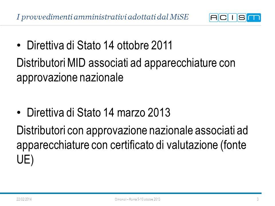 I provvedimenti amministrativi adottati dal MiSE