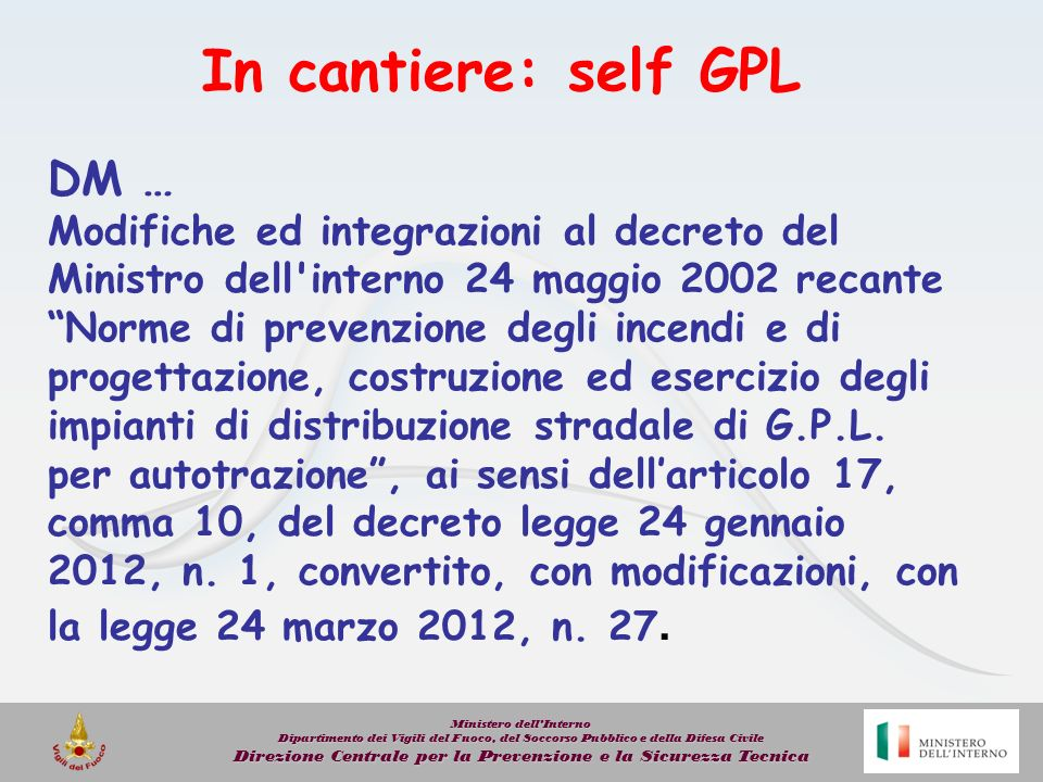 In cantiere: self GPL DM …