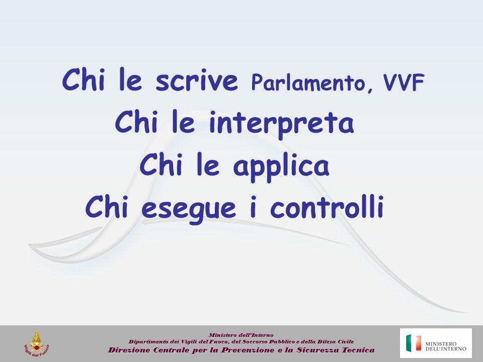Chi le scrive Parlamento, VVF