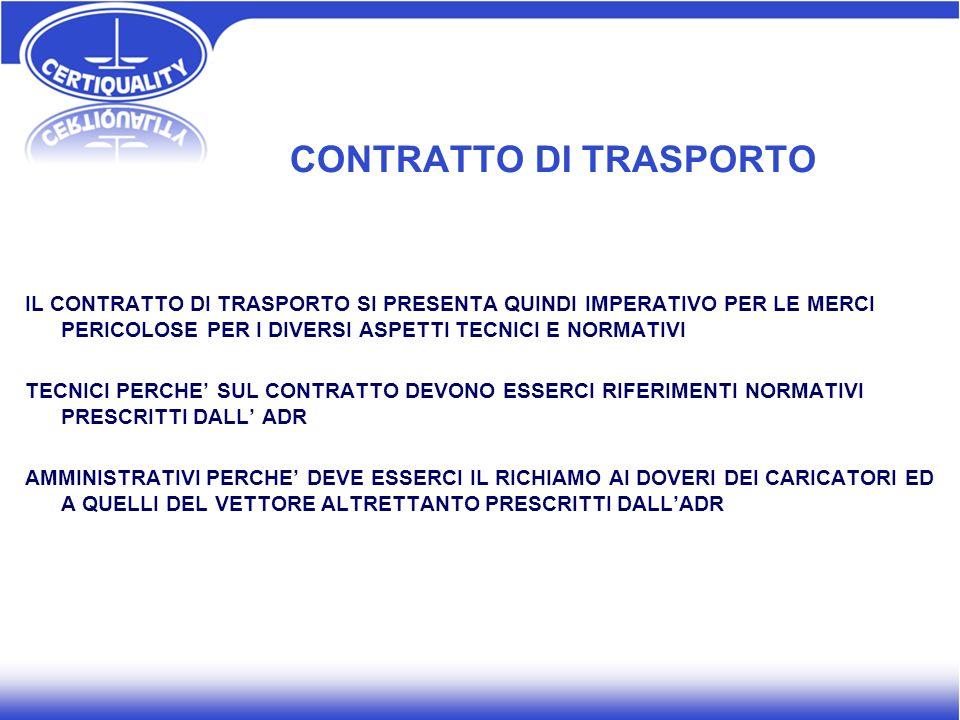 CONTRATTO DI TRASPORTO
