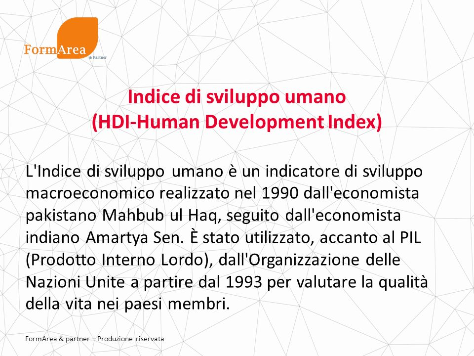 Indice di sviluppo umano