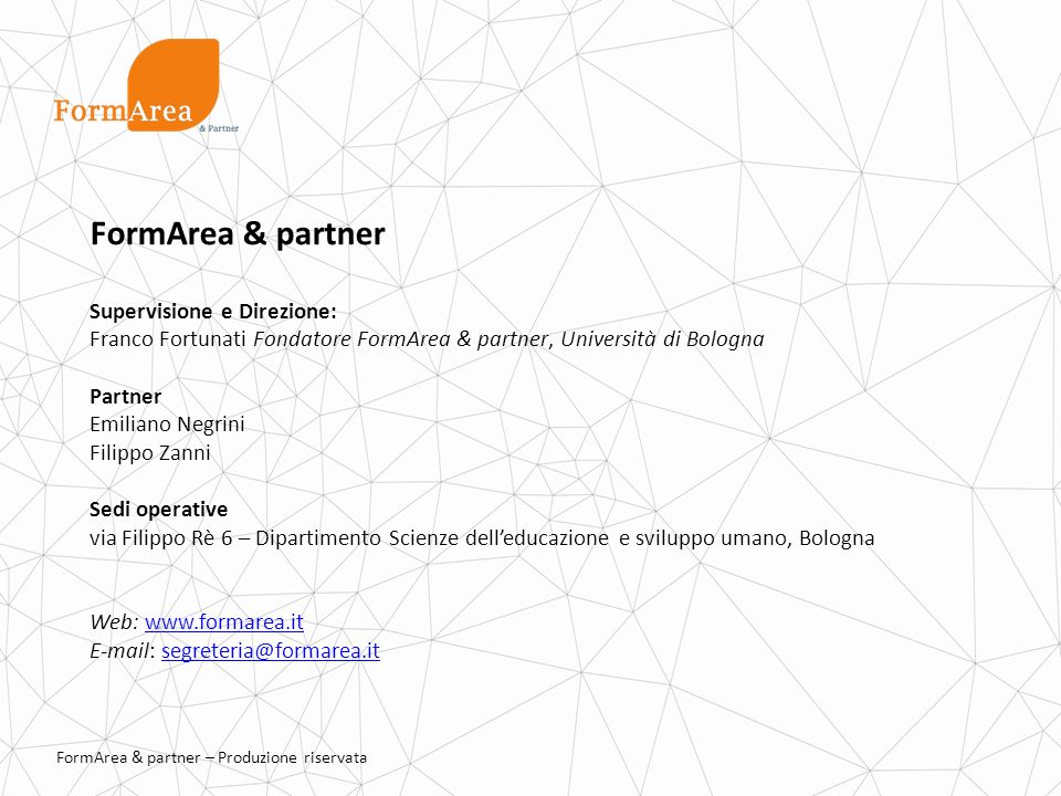 FormArea & partner Supervisione e Direzione: