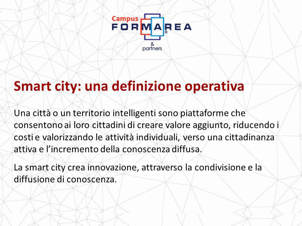 Smart city: una definizione operativa