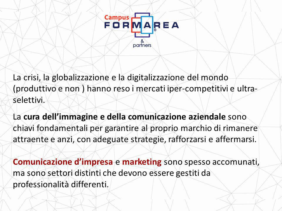 La crisi, la globalizzazione e la digitalizzazione del mondo (produttivo e non ) hanno reso i mercati iper-competitivi e ultra-selettivi.
