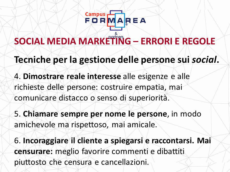 SOCIAL MEDIA MARKETING – ERRORI E REGOLE