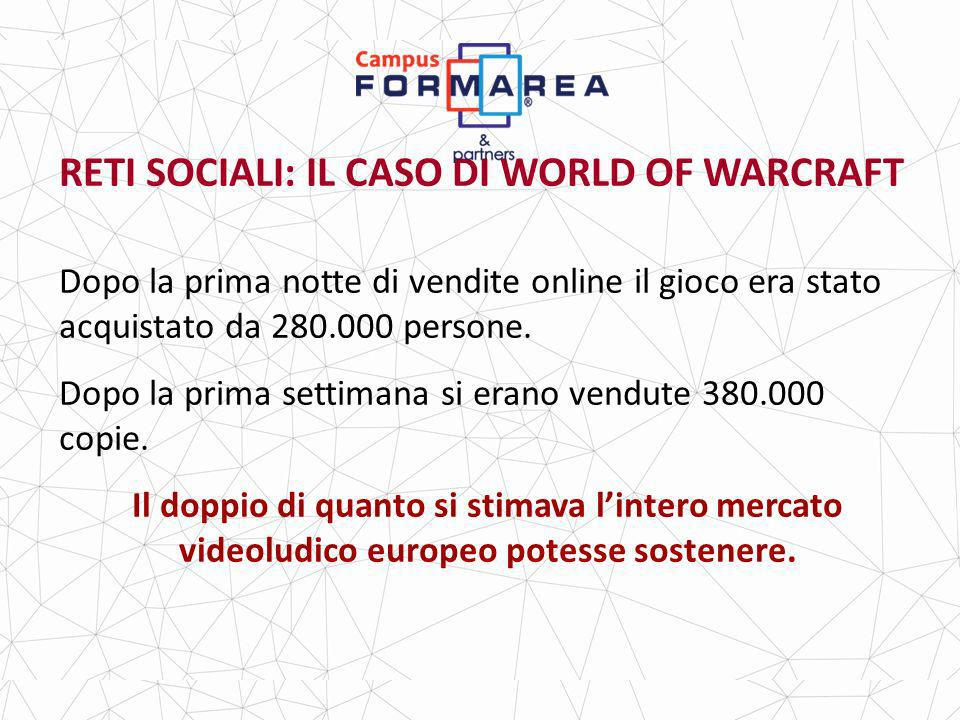 RETI SOCIALI: IL CASO DI WORLD OF WARCRAFT