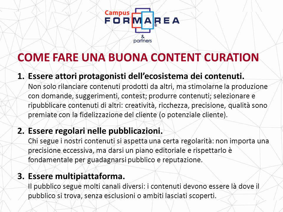 COME FARE UNA BUONA CONTENT CURATION