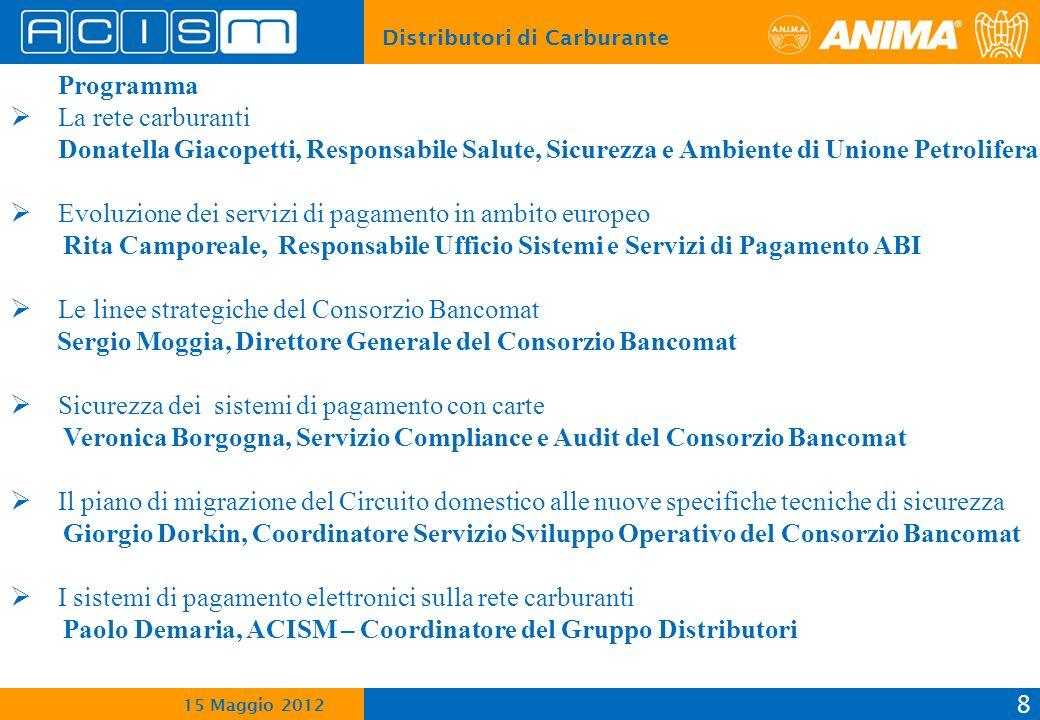 Programma La rete carburanti. Donatella Giacopetti, Responsabile Salute, Sicurezza e Ambiente di Unione Petrolifera.