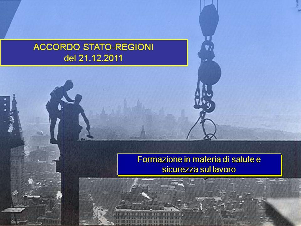 ACCORDO STATO-REGIONI del 21.12.2011