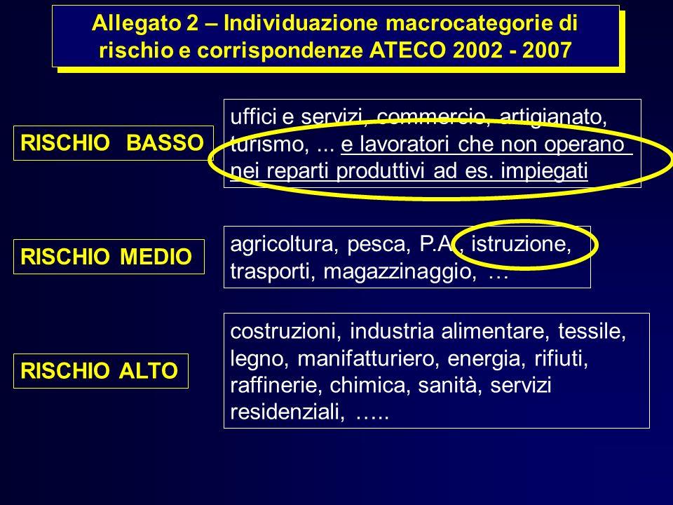 Allegato 2 – Individuazione macrocategorie di rischio e corrispondenze ATECO 2002 - 2007