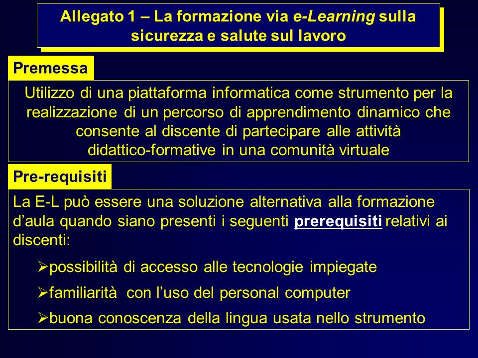 Utilizzo di una piattaforma informatica come strumento per la
