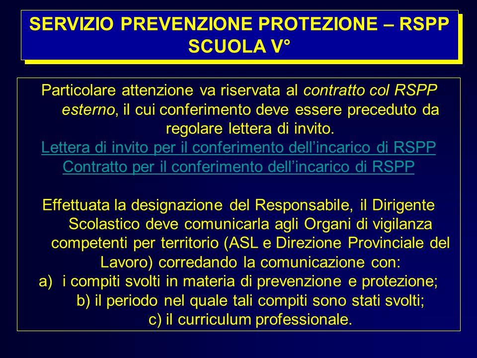 SERVIZIO PREVENZIONE PROTEZIONE – RSPP