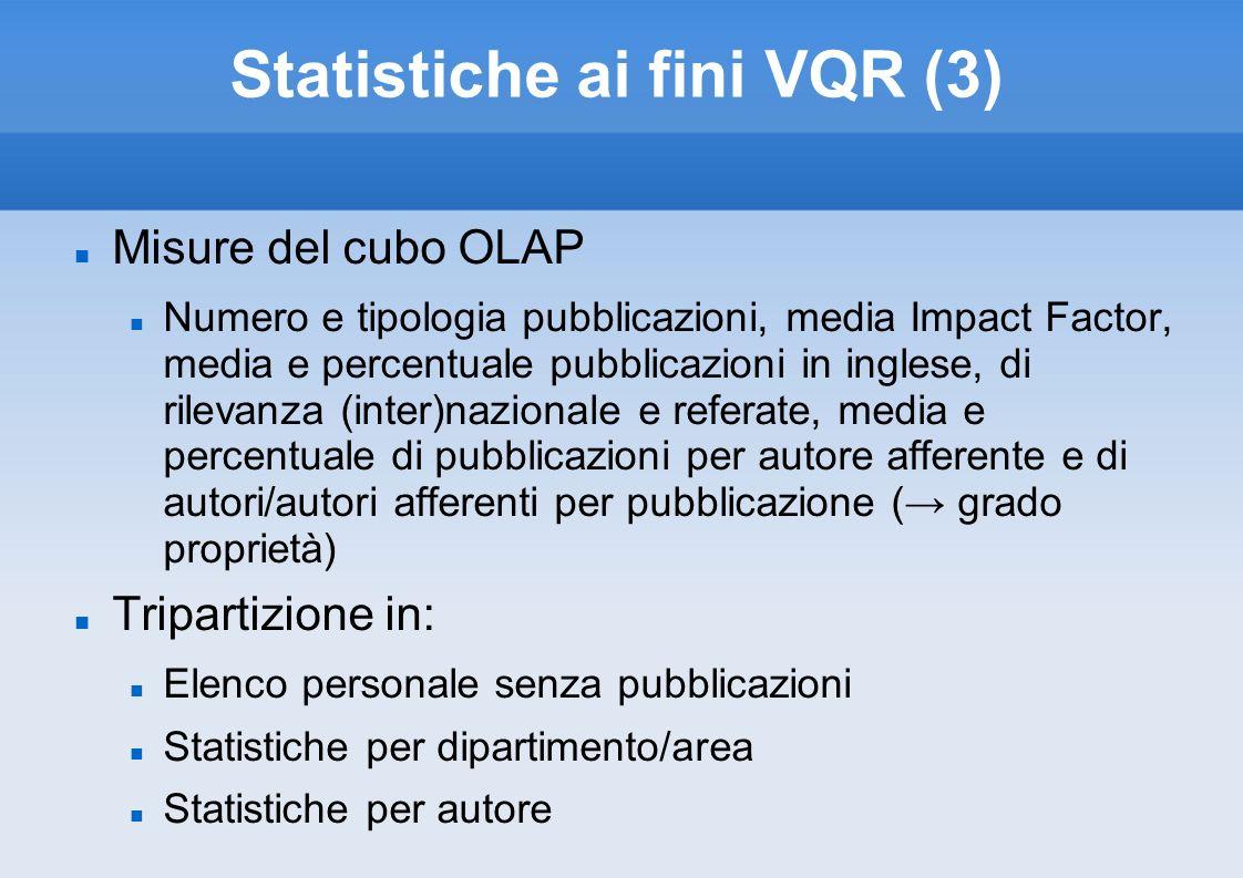 Statistiche ai fini VQR (3)