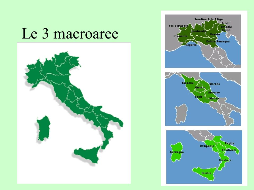 Le 3 macroaree
