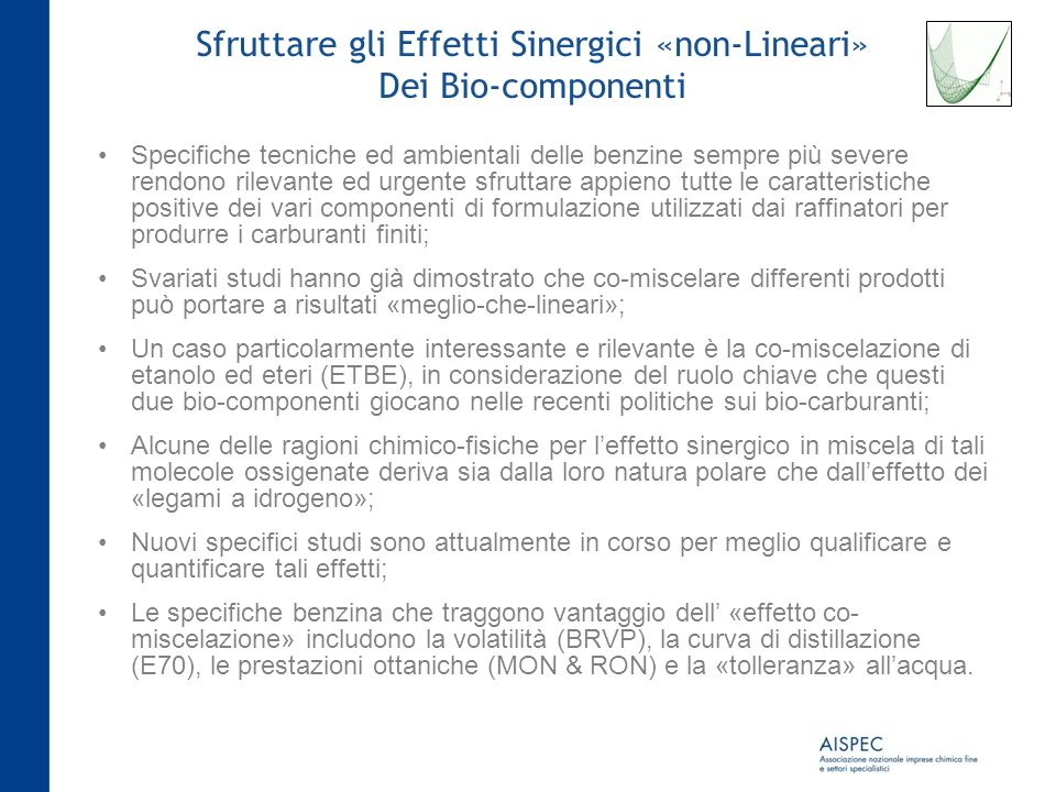 Sfruttare gli Effetti Sinergici «non-Lineari»