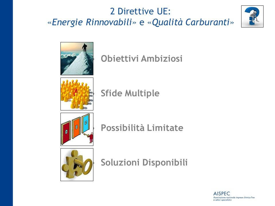 2 Direttive UE: «Energie Rinnovabili» e «Qualità Carburanti»