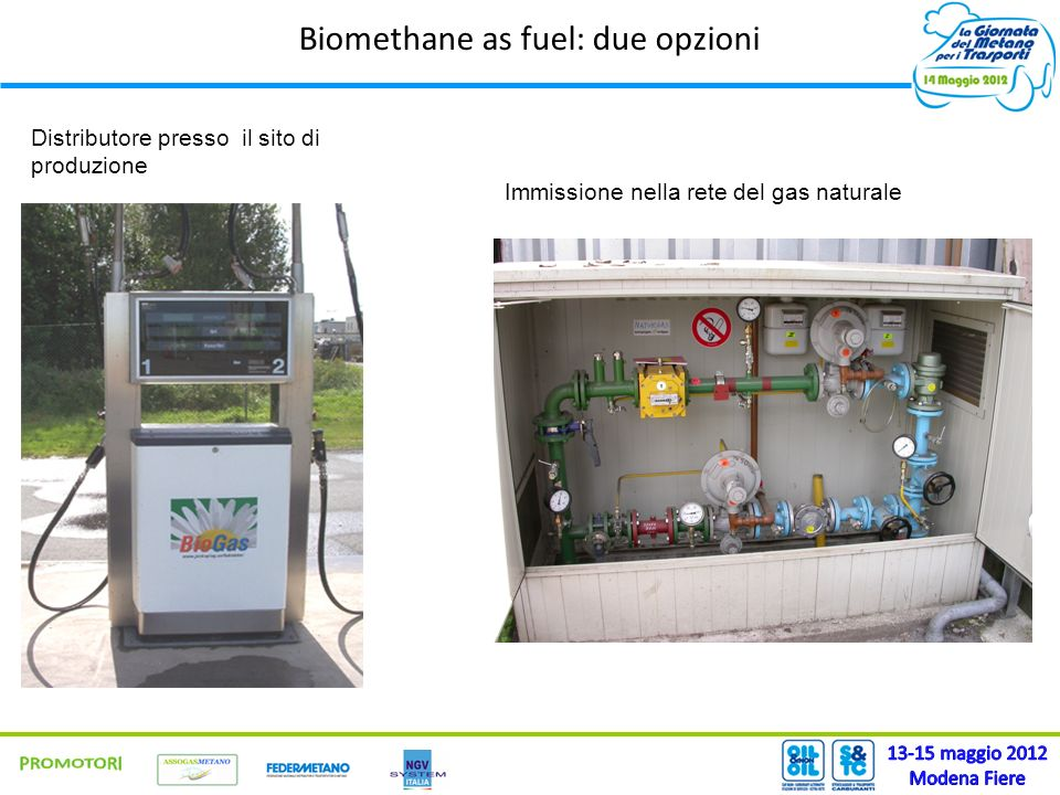 Biomethane as fuel: due opzioni