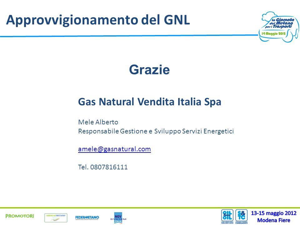 Approvvigionamento del GNL