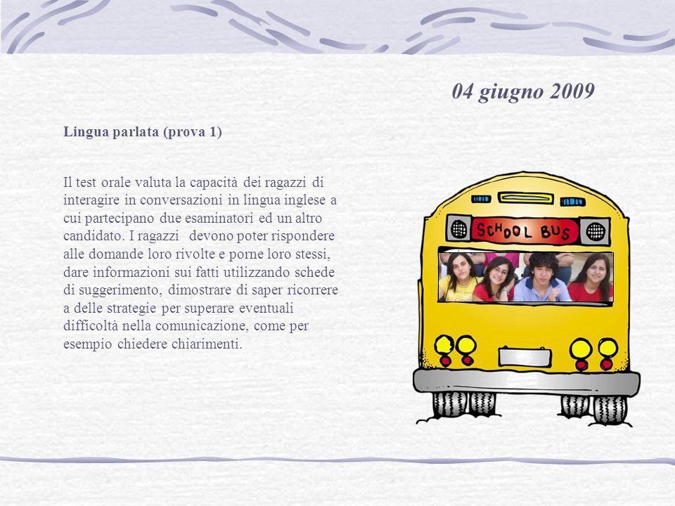 04 giugno 2009 Lingua parlata (prova 1)