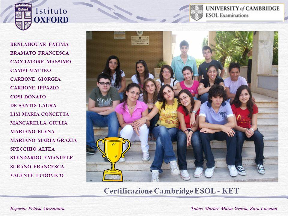 Certificazione Cambridge ESOL - KET
