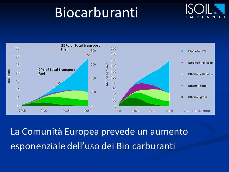 Biocarburanti La Comunità Europea prevede un aumento