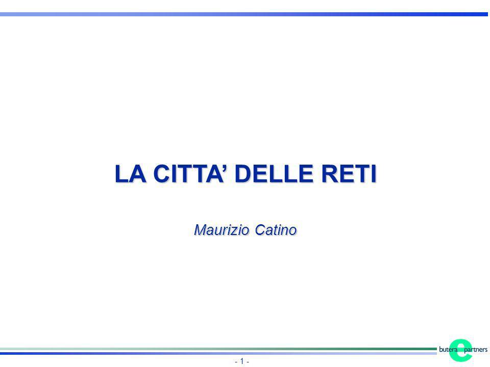 LA CITTA' DELLE RETI Maurizio Catino