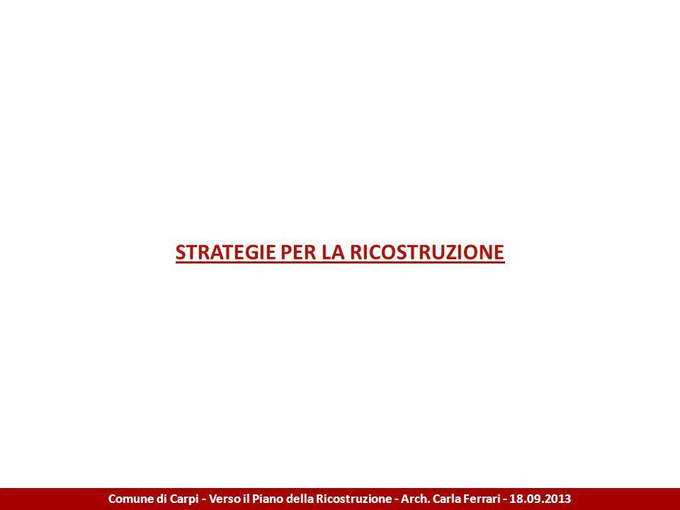 STRATEGIE PER LA RICOSTRUZIONE