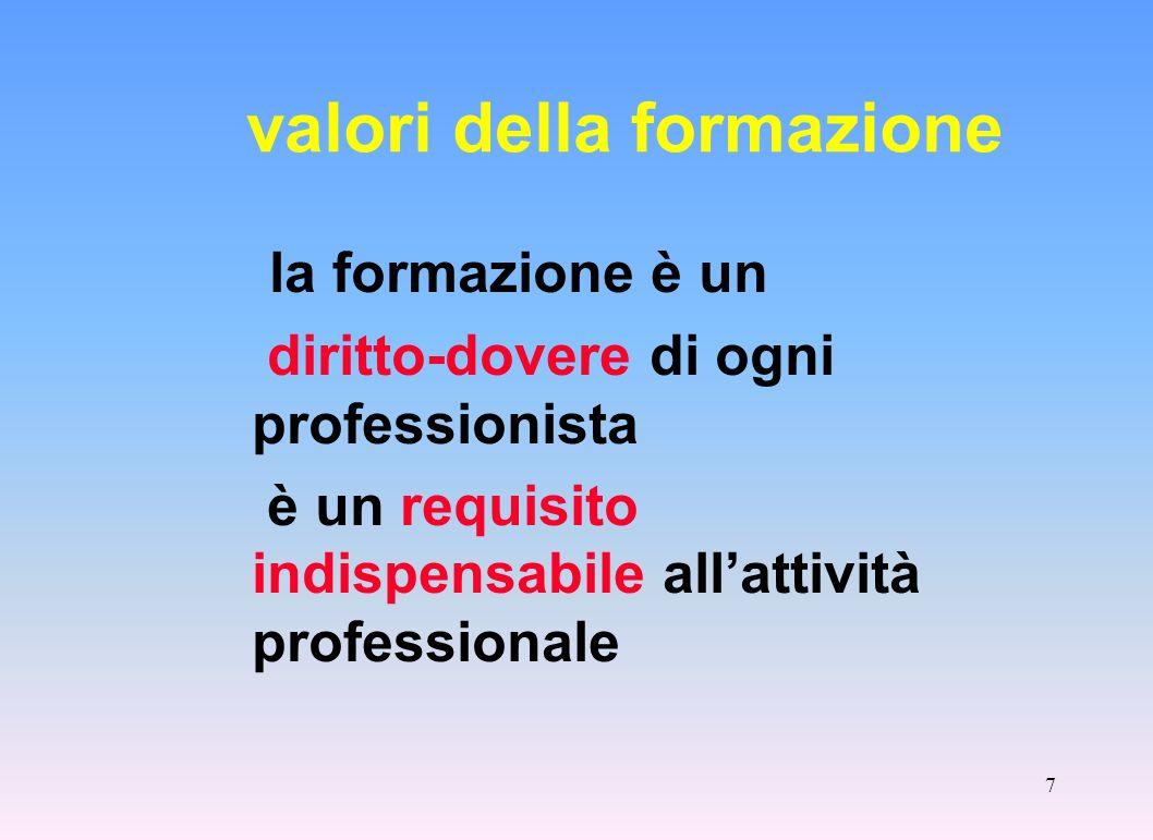 valori della formazione