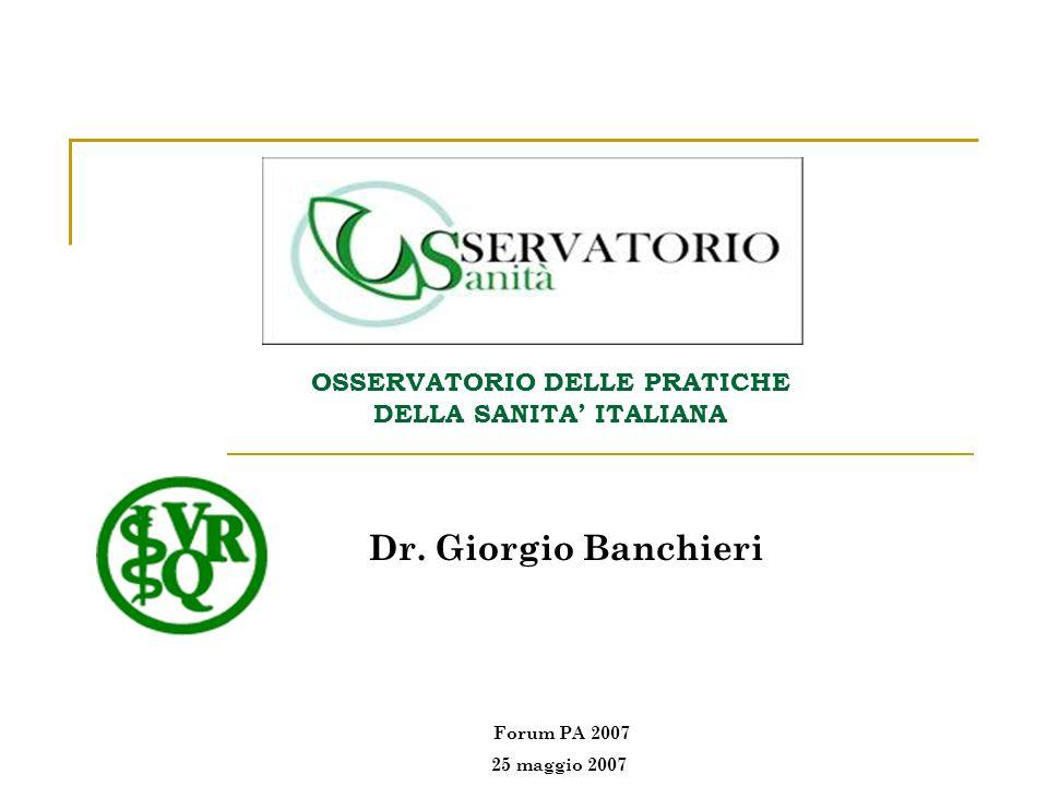 OSSERVATORIO DELLE PRATICHE DELLA SANITA' ITALIANA