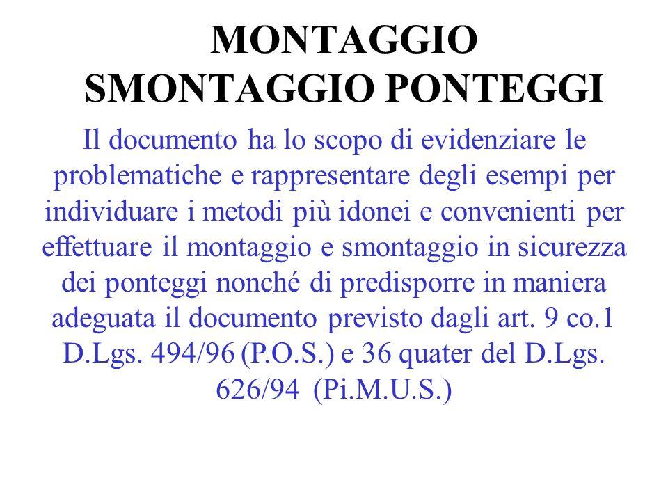 MONTAGGIO SMONTAGGIO PONTEGGI