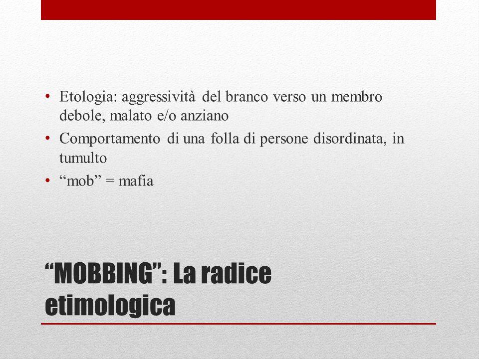 MOBBING : La radice etimologica