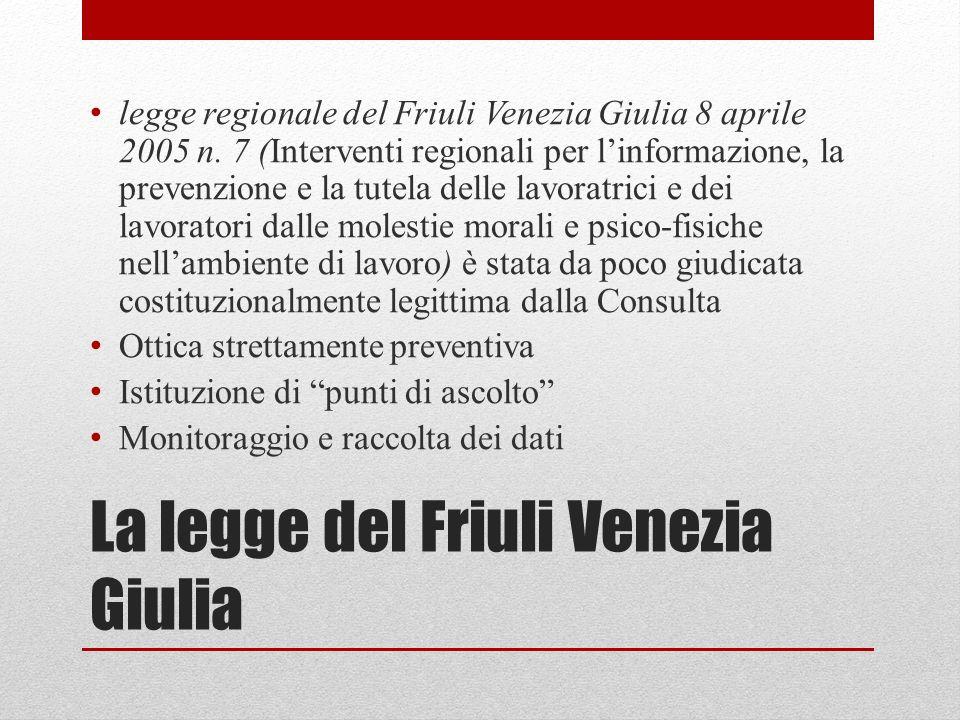 La legge del Friuli Venezia Giulia