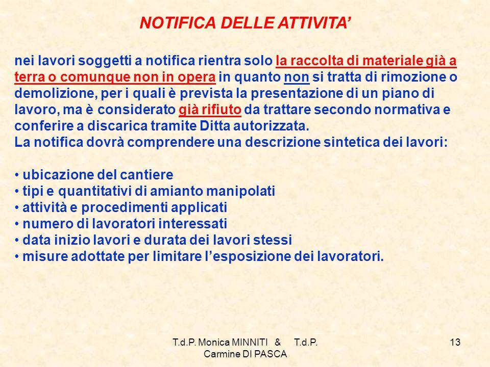 NOTIFICA DELLE ATTIVITA'