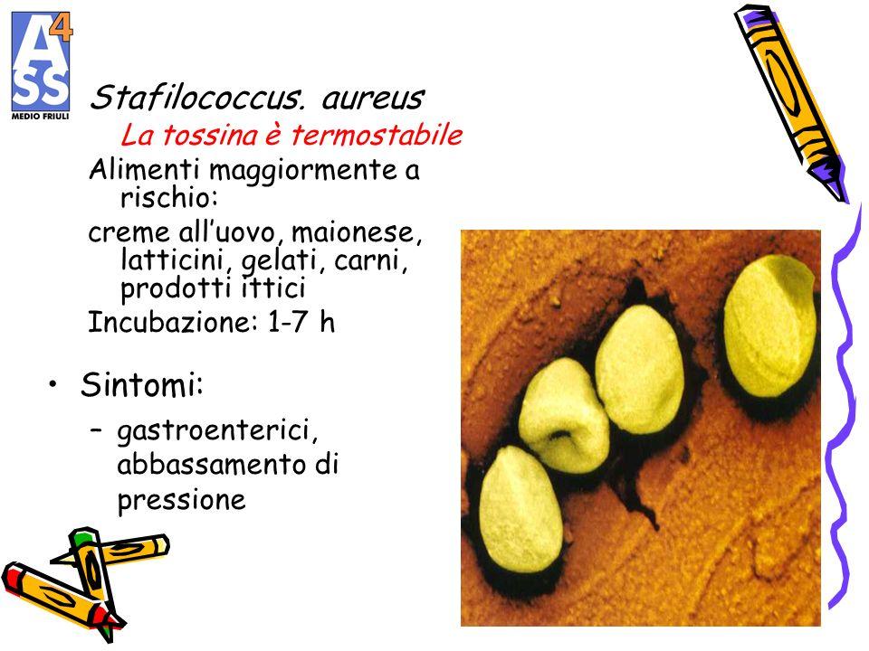 Stafilococcus. aureus Sintomi: La tossina è termostabile
