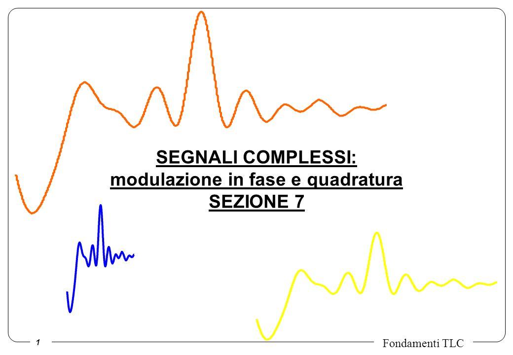 SEGNALI COMPLESSI: modulazione in fase e quadratura SEZIONE 7