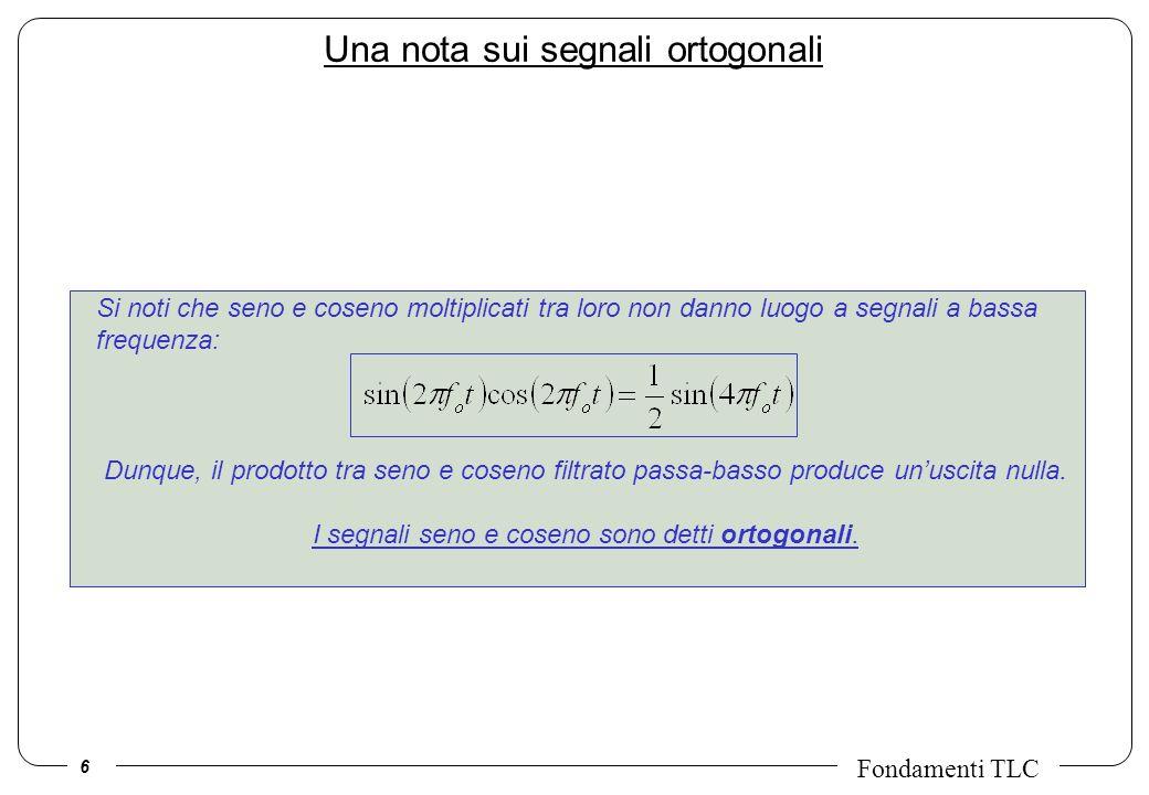 Una nota sui segnali ortogonali