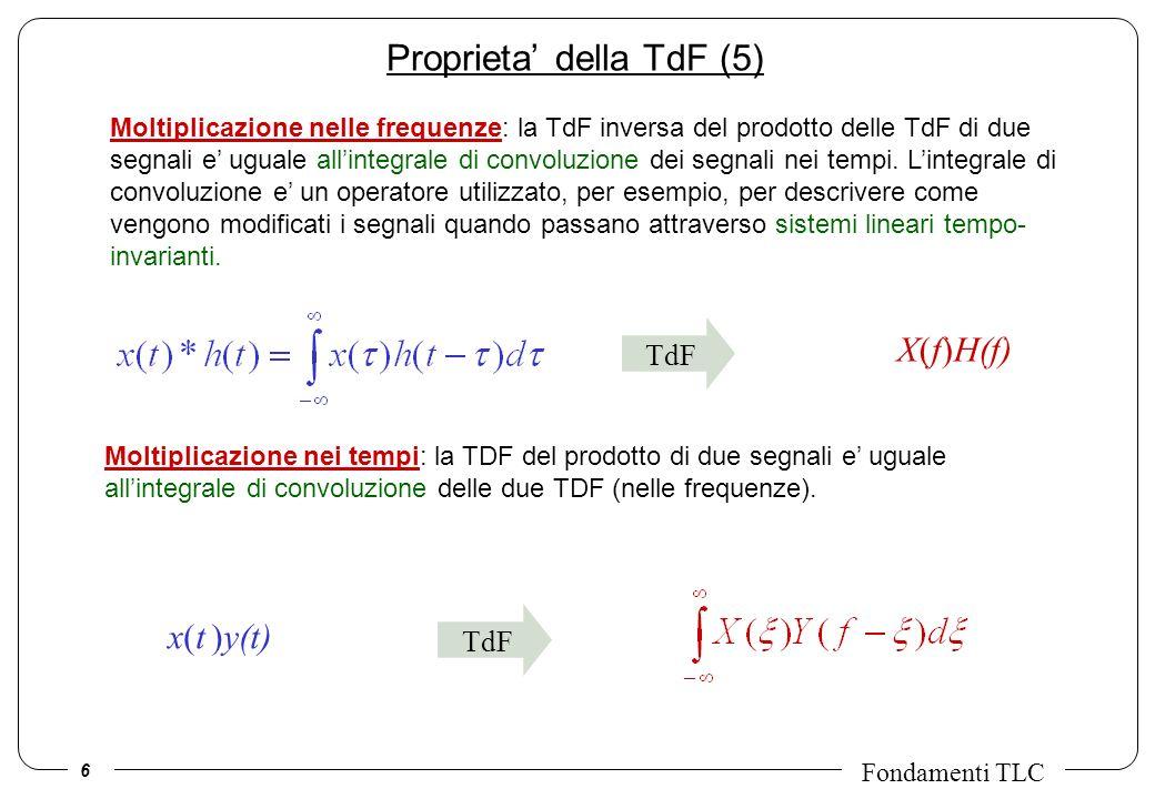 Proprieta' della TdF (5)