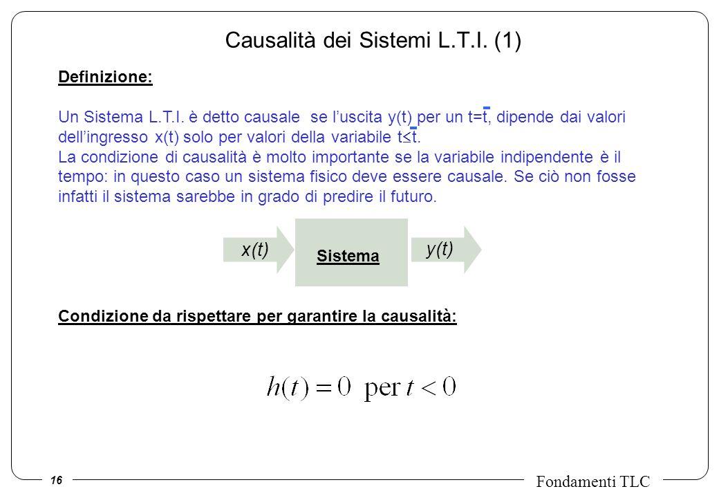 Causalità dei Sistemi L.T.I. (1)