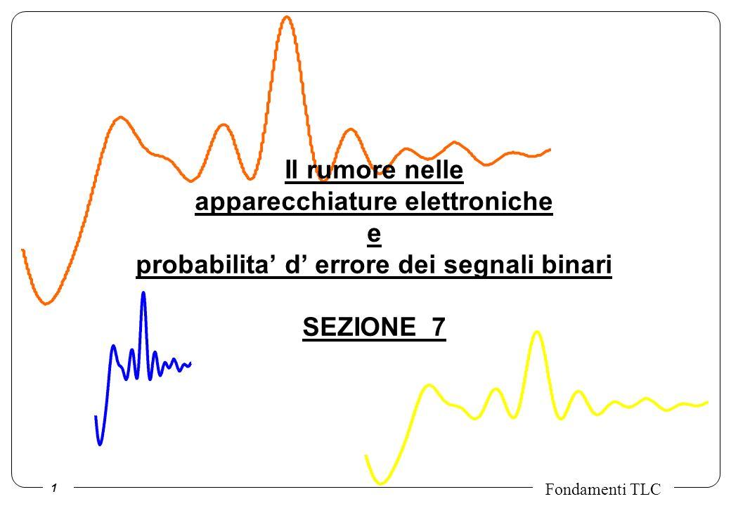 Il rumore nelle apparecchiature elettroniche e probabilita' d' errore dei segnali binari SEZIONE 7