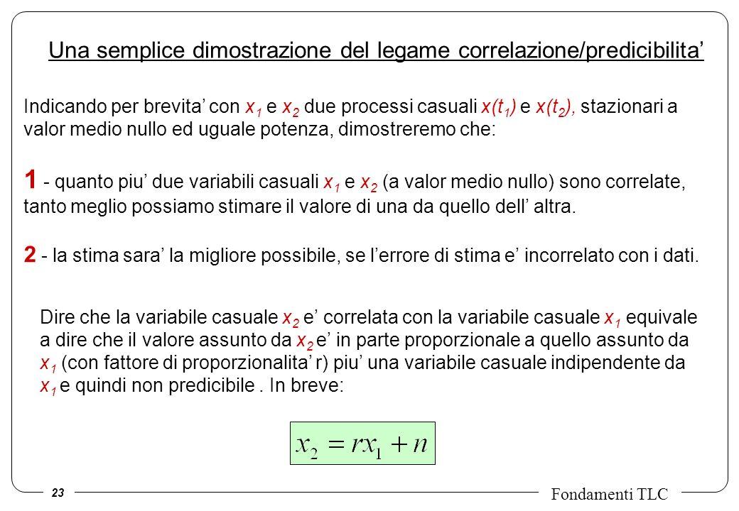 Una semplice dimostrazione del legame correlazione/predicibilita'