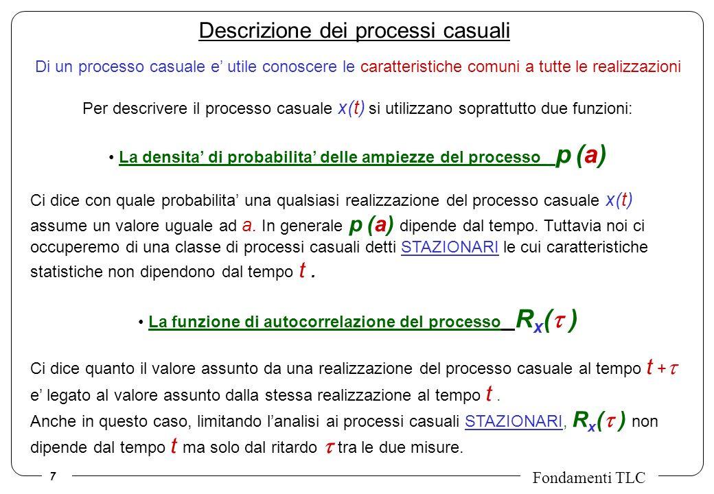 Descrizione dei processi casuali