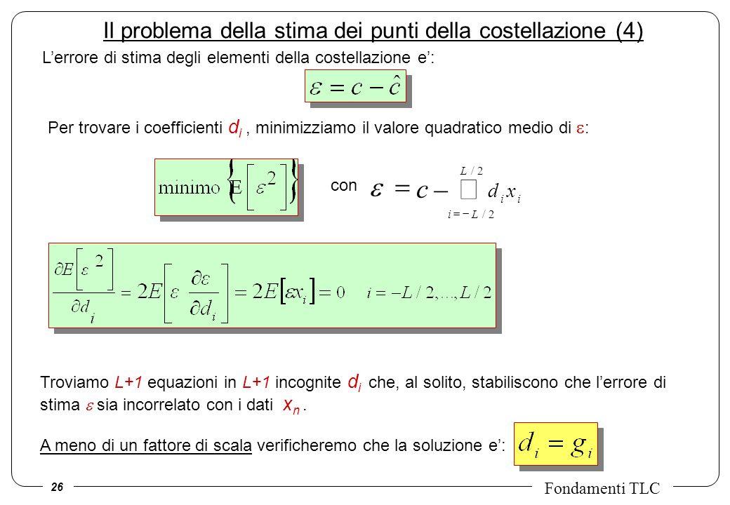 Il problema della stima dei punti della costellazione (4)