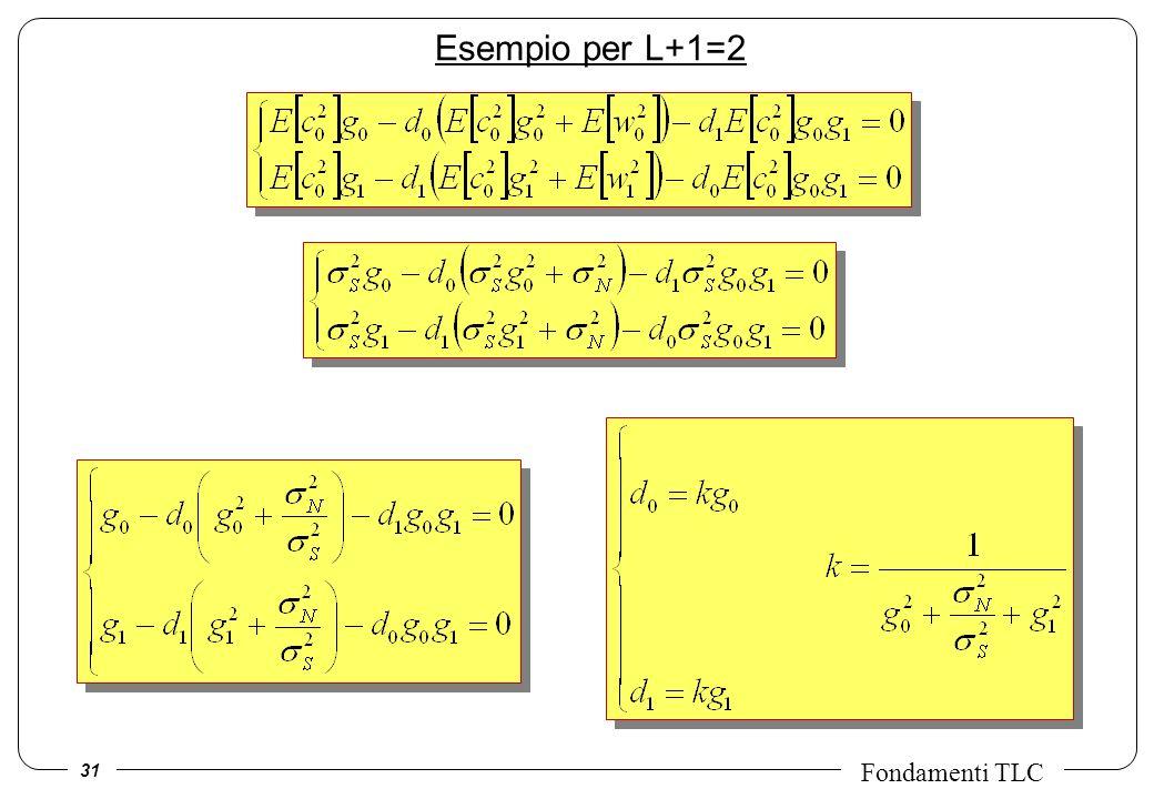 Esempio per L+1=2