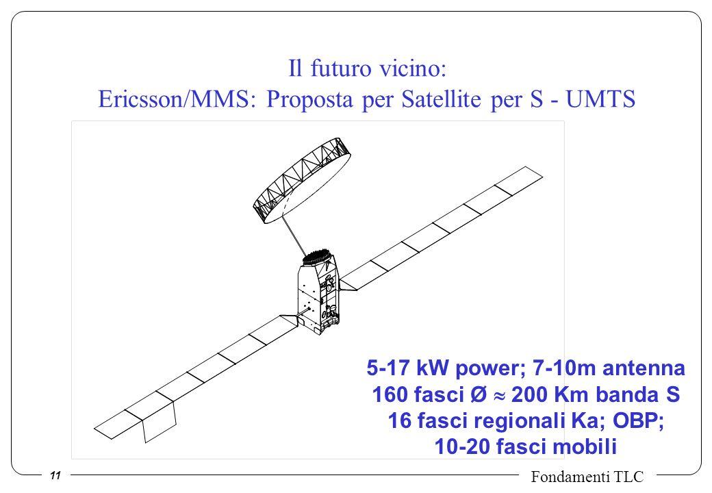 Il futuro vicino: Ericsson/MMS: Proposta per Satellite per S - UMTS