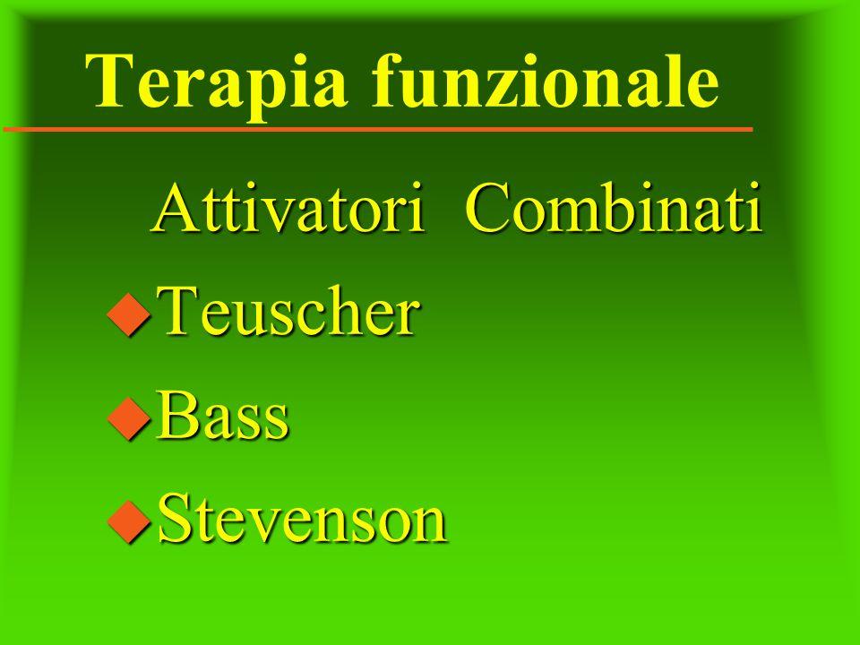 Terapia funzionale Attivatori Combinati Teuscher Bass Stevenson