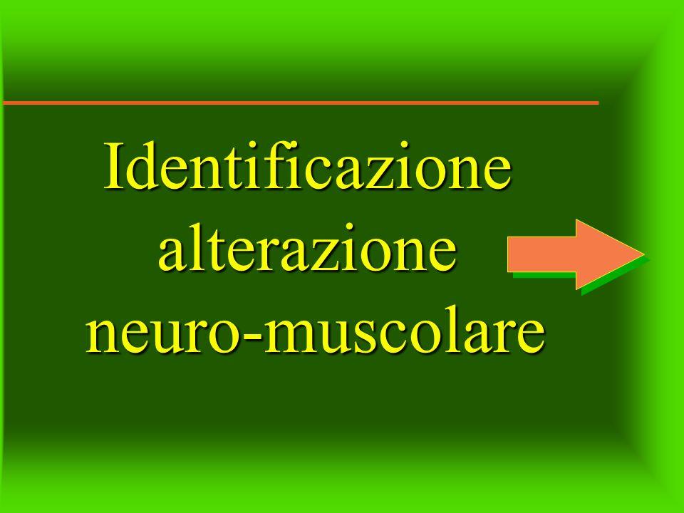 Identificazione alterazione neuro-muscolare