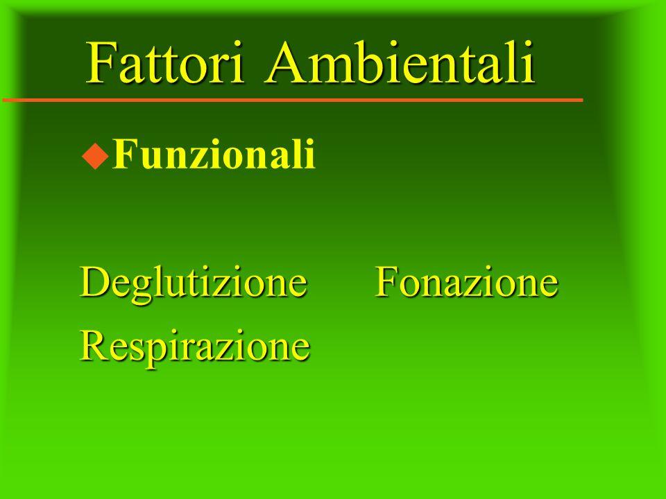 Fattori Ambientali Funzionali Deglutizione Fonazione Respirazione