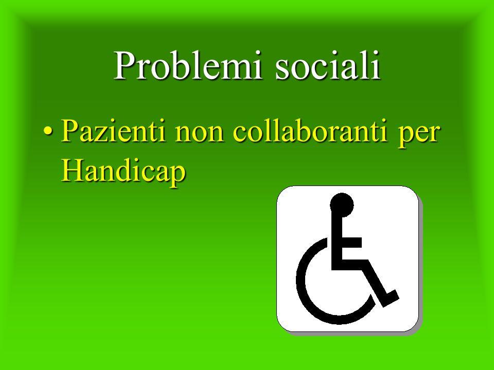 Problemi sociali Pazienti non collaboranti per Handicap