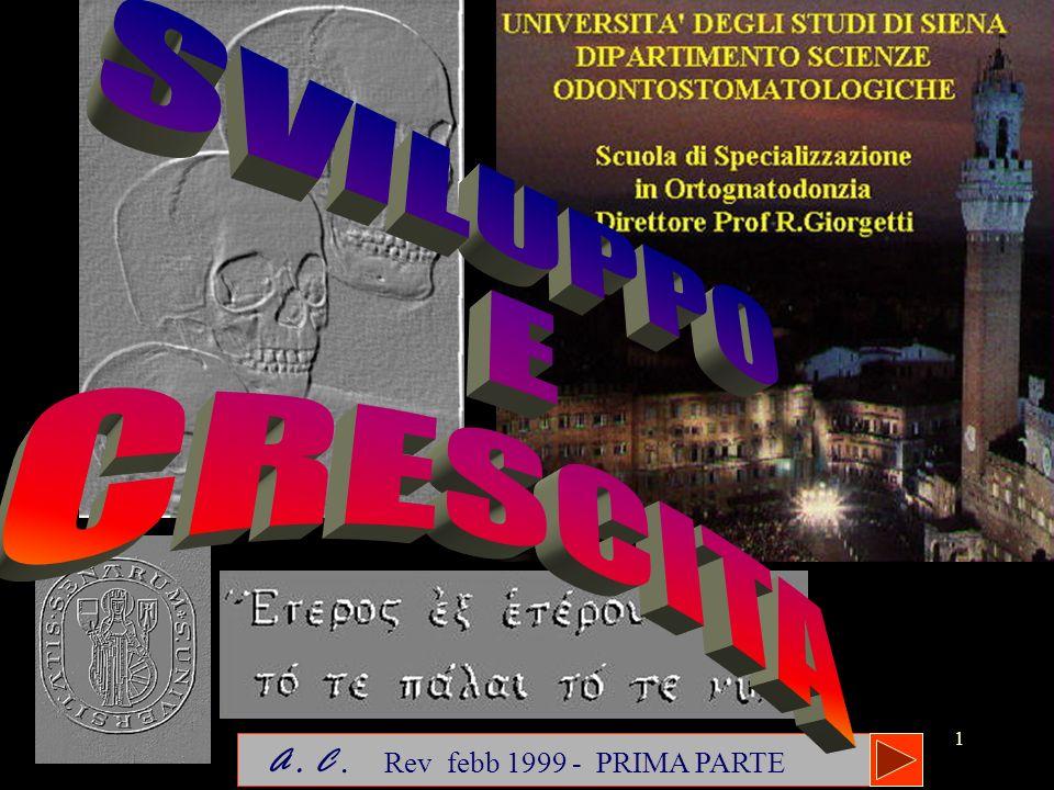 SVILUPPO E CRESCITA A . C . Rev febb 1999 - PRIMA PARTE