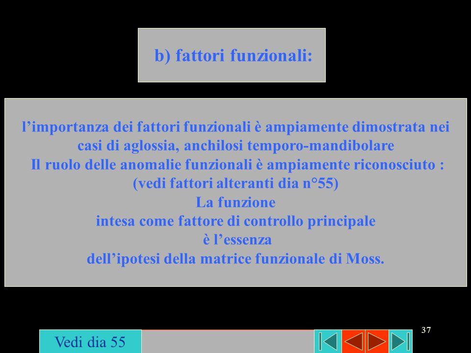b) fattori funzionali:
